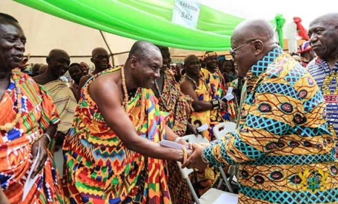 Nana Mprah Besemuna III, Paramount Chief of Krachie Traditional area and President Nana Akufo-Addo