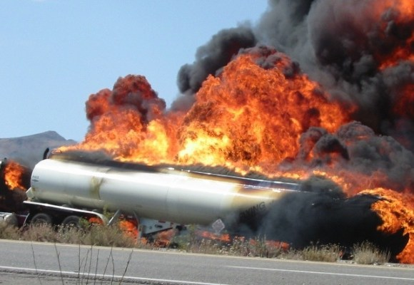 People had gathered to collect fuel from the tanker when it exploded