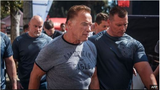 Schwarzenegger urged fans to focus on the athletes at the event instead of the attack