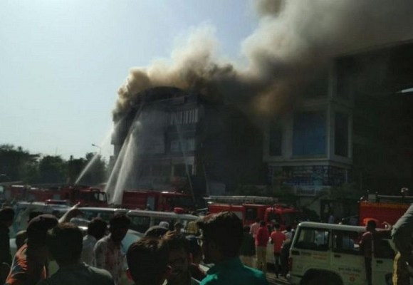 The fire ripped through tuition classes in the western state of Gujarat