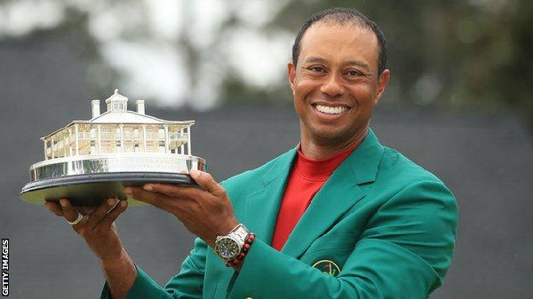 Woods won his fifth Masters title at Augusta last month