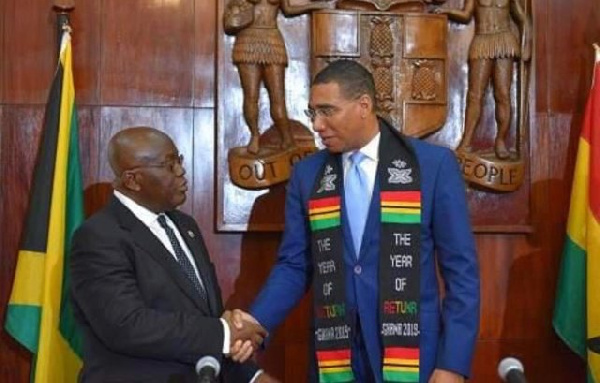 Akufo-Addo last week was in the Caribbean where he held bilateral talks with Andrew Holnes