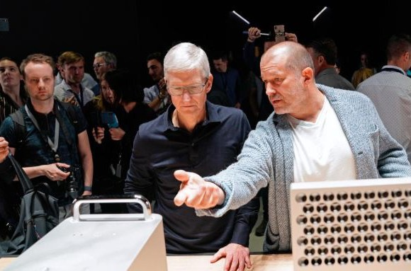 Apple CEO Tim Cook with Chief Design Officer Jonathan Ive