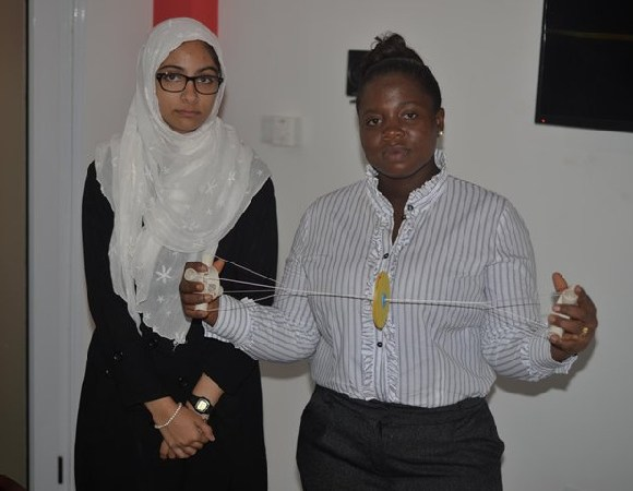 Sanaa Mehmood and Rose Adu Darko, students of KNUST