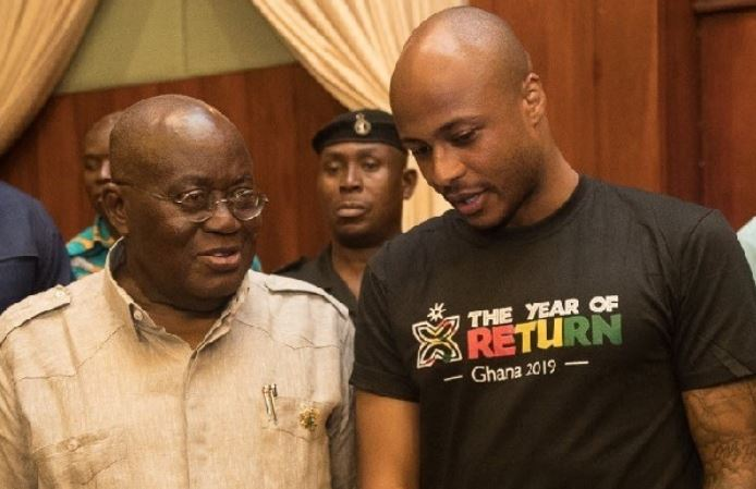 Andrew Ayew and President Akufo-Addo