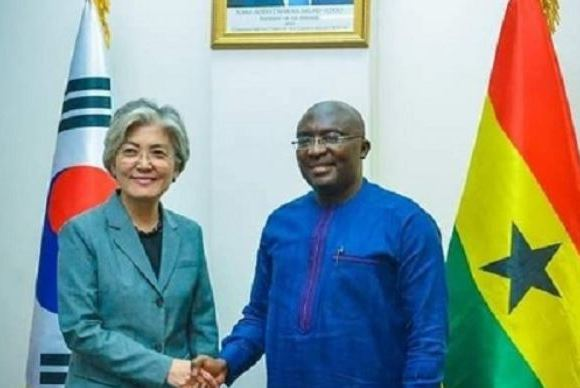 Foreign Minister of South Korea, Kang Kyung-Wha, Vice President, Dr. Mahamudu Bawumia