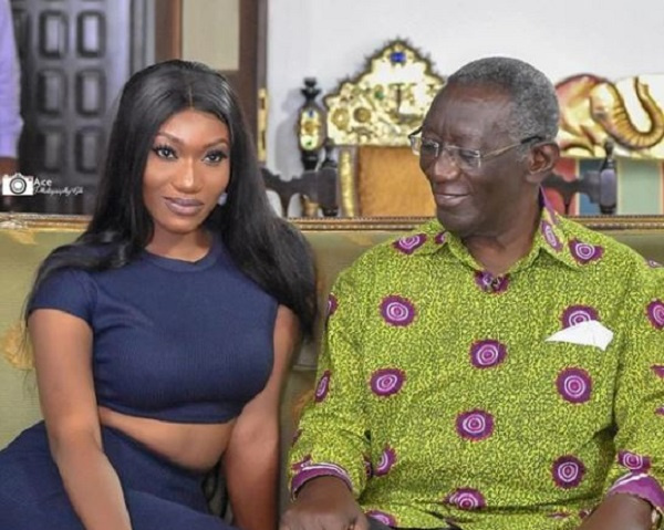 Wendy Shay paid a visit to former president John Agyekum Kufour