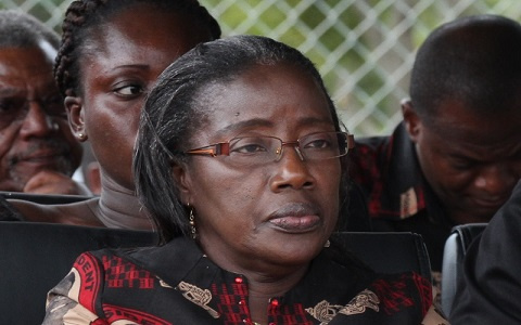 Wife of late former vice president Matilda Amissah Arthur