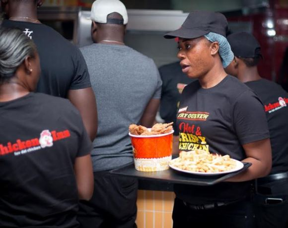 Patrons of Achimota Mall having fun at the Chicken Inn Restaurant