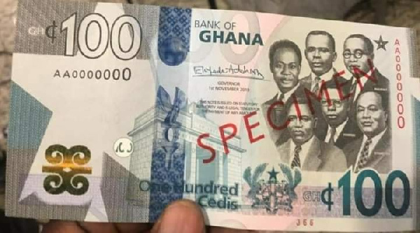 Ghc100 or 100 cedis notes, Ghana Political News Report Articles