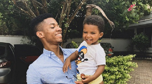 Kidi with his son