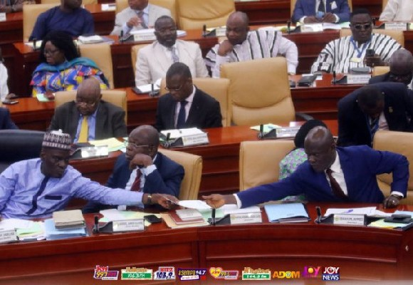 The minority in parliament during the budget reading