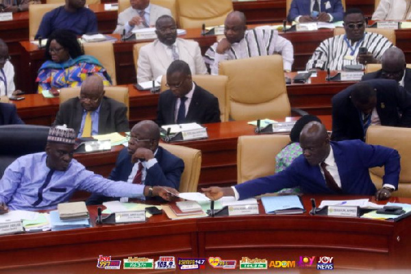 The minority in parliament during the budget reading, Ghana Political News Report Articles