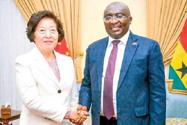 Vice President Dr. Mahamudu Bawumia with Chinese Vice-Premier, Sun Chunlan