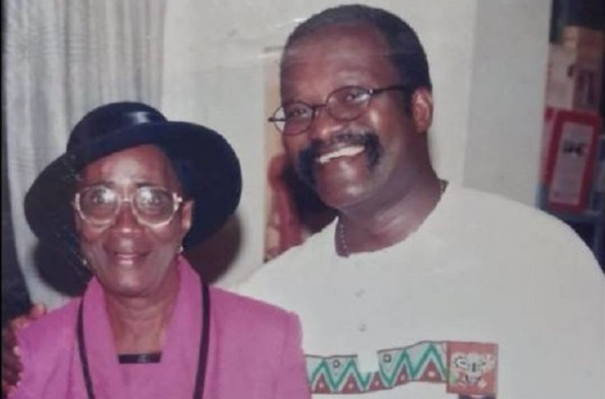 Kwesi Ahwoi with late mother