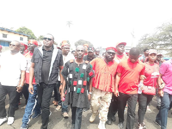 Leading members of NDC lead the frontline of demonstrations against the voters register, Ghana Political News Report Articles