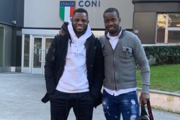 Mubarak Wakaso (L) is set to move to China