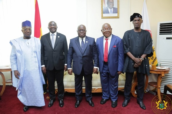 Akufo-Addo with leadership of parliament