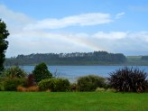Estuary view (and rainbow)