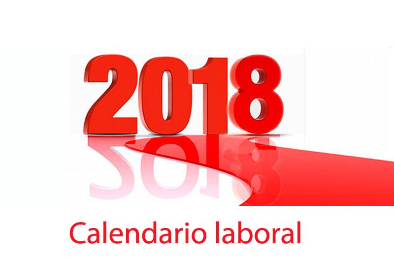 Resultado de imagen de calendarios laborales 2018