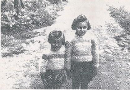 Grunia y Szyfra Czeniak (hijas de Pinhas) en 1946