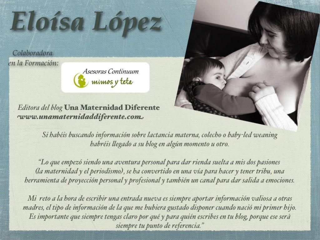 Eloísa López-Una maternidad diferente