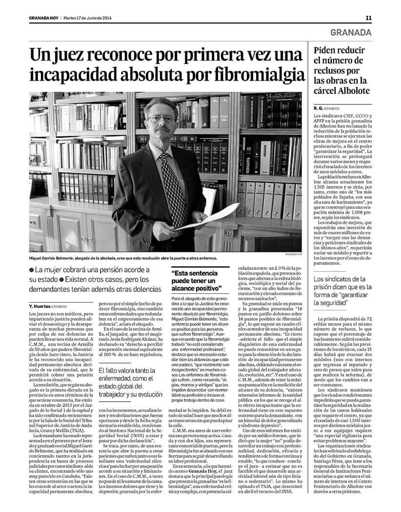 2014 - Sentencia Fibromialgia Autónoma