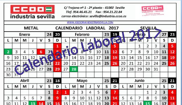Calendario Sevilla.Calendarios Laborales Provinciales Asesoria Juridica Laboral
