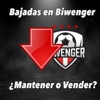 Las grandes bajadas en Biwenger, ¿Vender o Mantener?