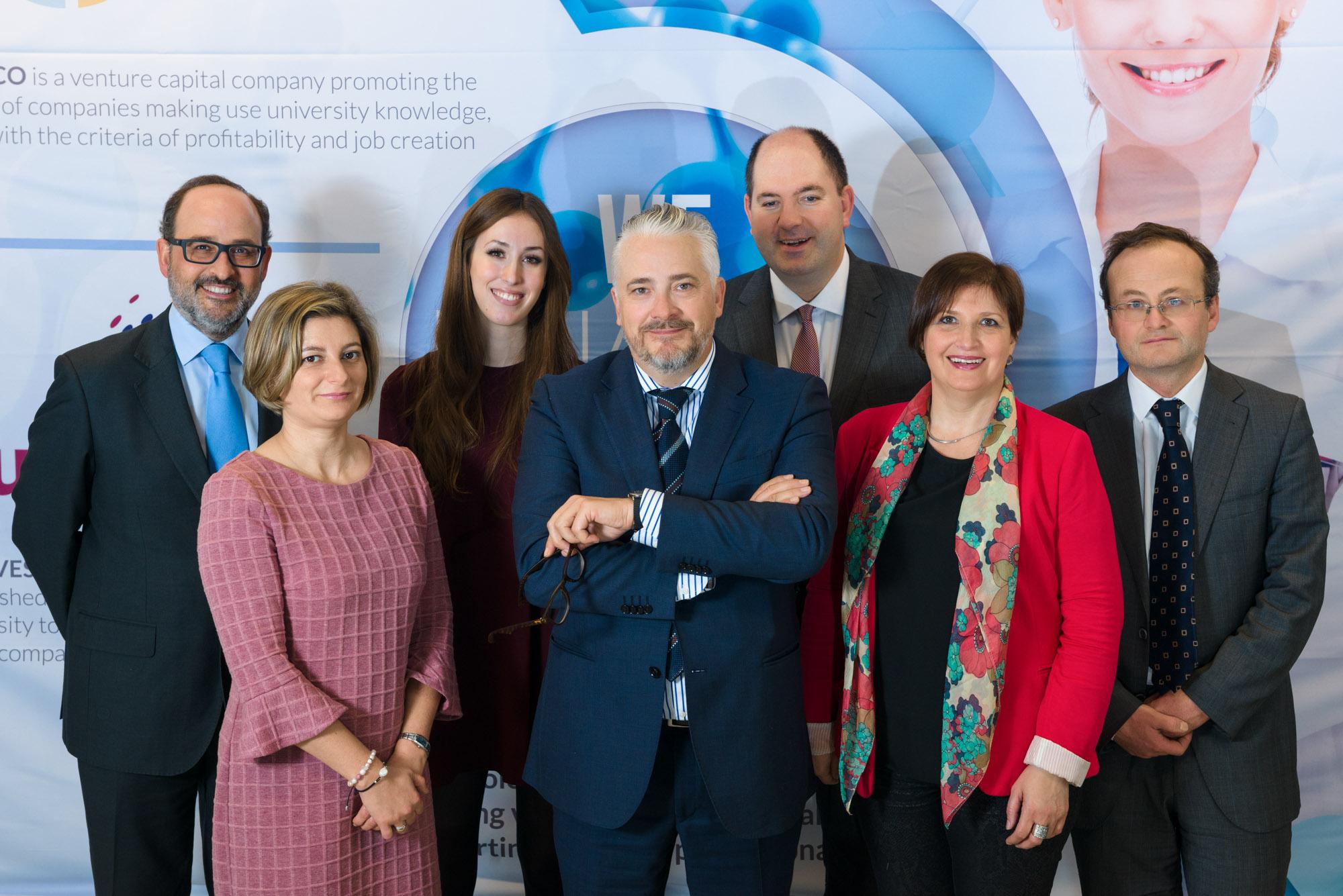 Fotografía do Equipo Directivo Uninvest-Foto corporativa
