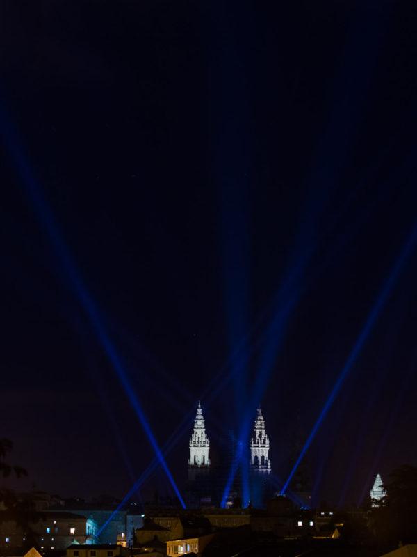 Fotografía nocturna-Fogos do Apóstolo-Santiago de Compostela