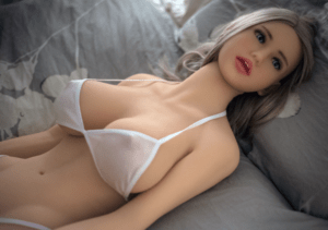 Realistic sex doll blonde