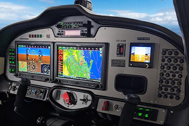 Tecnam P2008 glass cockpit