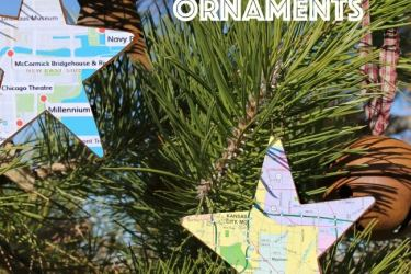 Easy DIY Map Ornaments