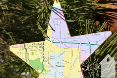 Easy DIY Map Ornaments