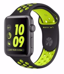 Smartwatch Apple Watch Series 2 Nike+ Edition, 42mm Space grey with Black/Volt Sport band