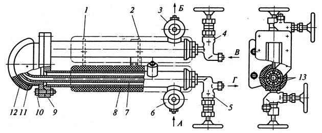 Подогреватель нефти секционный (схема)
