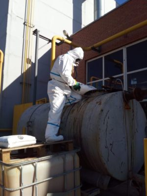 Процедура нейтрализации отработанного состава в промежуточной емкости