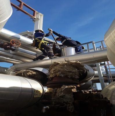 Демонтаж компаблоков и последующий вывоз в цех для очистки ручным способом
