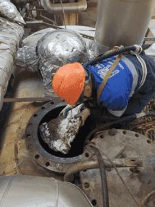 Очистка внутренней поверхности емкости от остатков солевых отложений