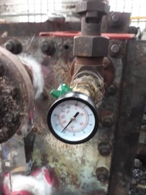 Опрессовка производилась водой, давление 12 бар
