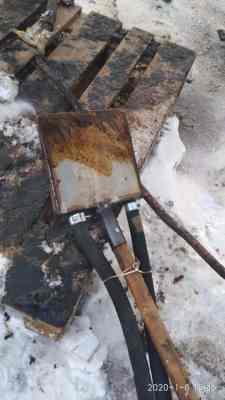 Своеобразная полая лопата, подогреваемая паром