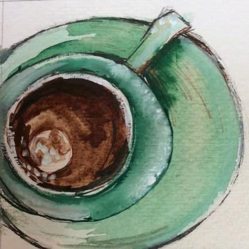 espresso, coffee, celadon, cup