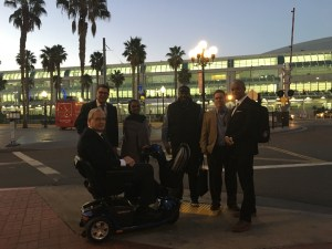 Support Group Leaders arrive at the San Diego Convention Center for #ASH16.