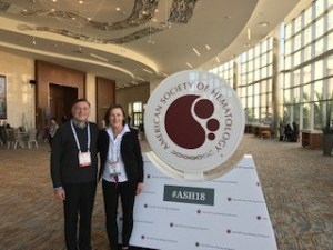 Mounzer Agha, MD, with Yvonne Yaksic at 2018 American Society of Hematology (ASH) annual meeting