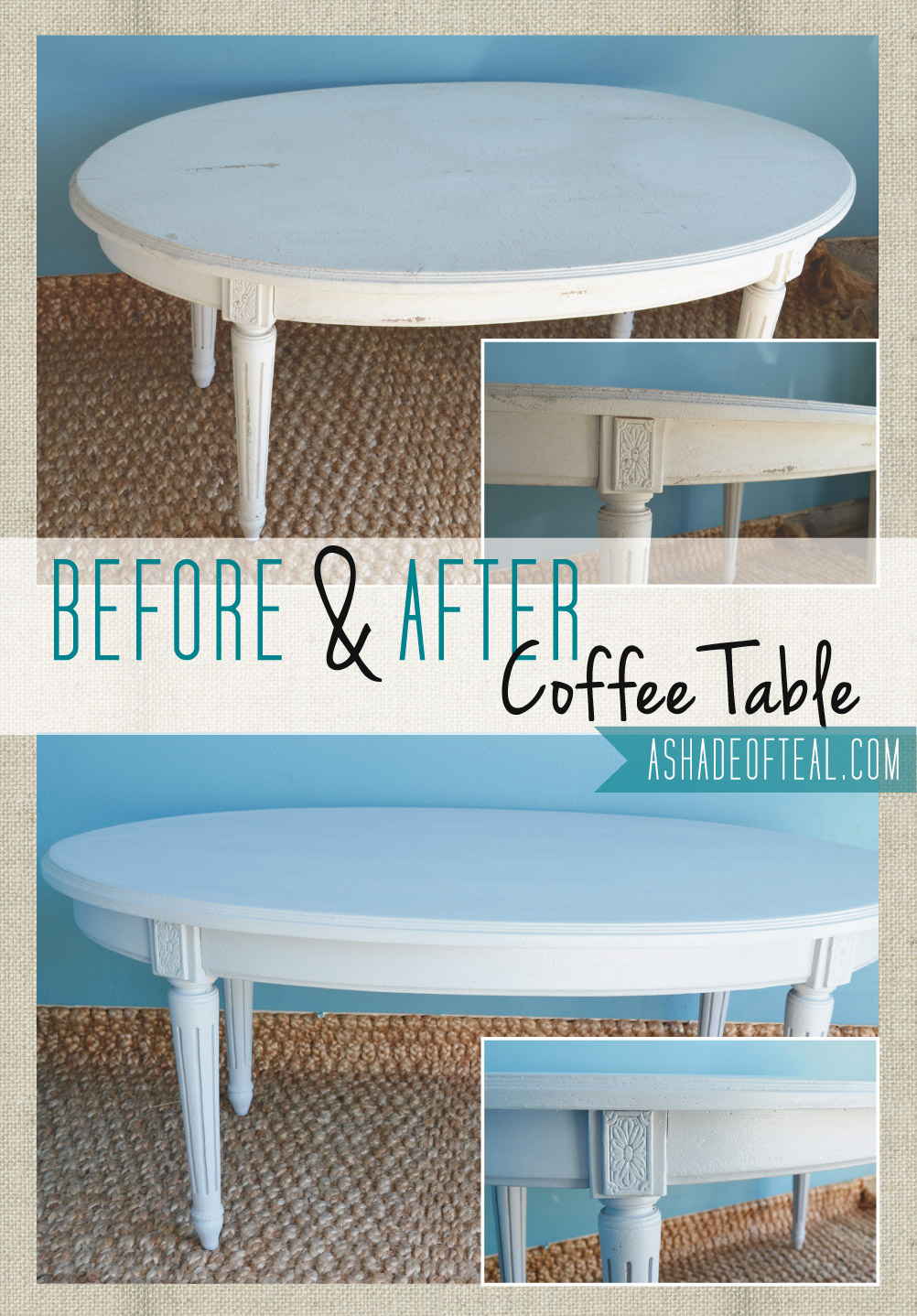 Before After Grey Coffee Table