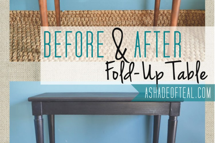 Before+After: Fold Up Table