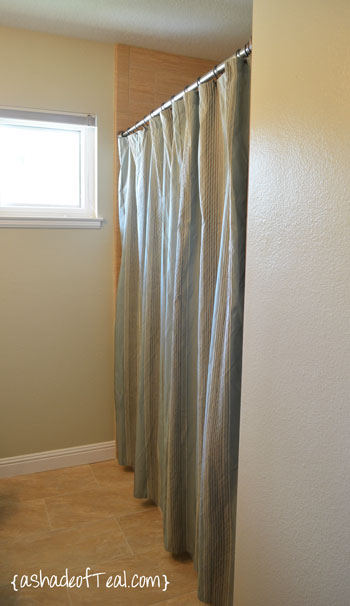 So I Found A Curtain That Liked From Target And Bought 2 Panels Had To Shop Around For The Shower Liner But Luckily Some Options At Bed