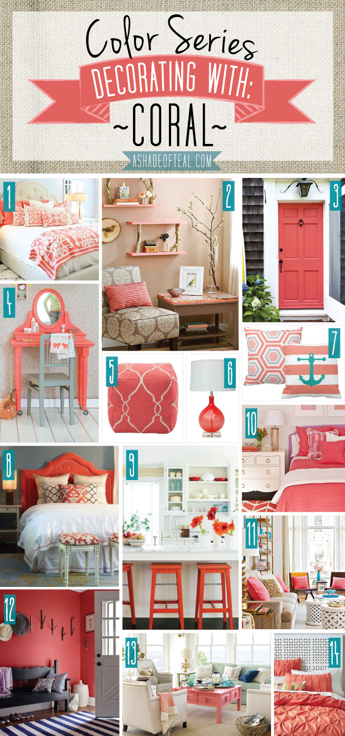 Color Series Decorating With Coral