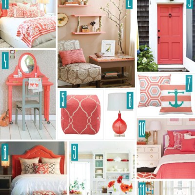 Color Series; Decorating with Coral